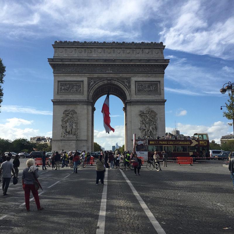 Arc de Triomphe autovrije zondag