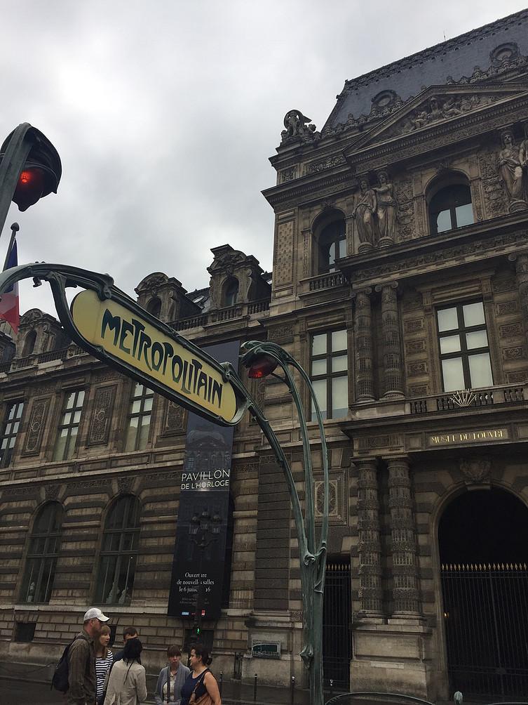 Typisch Metrostation Parijs