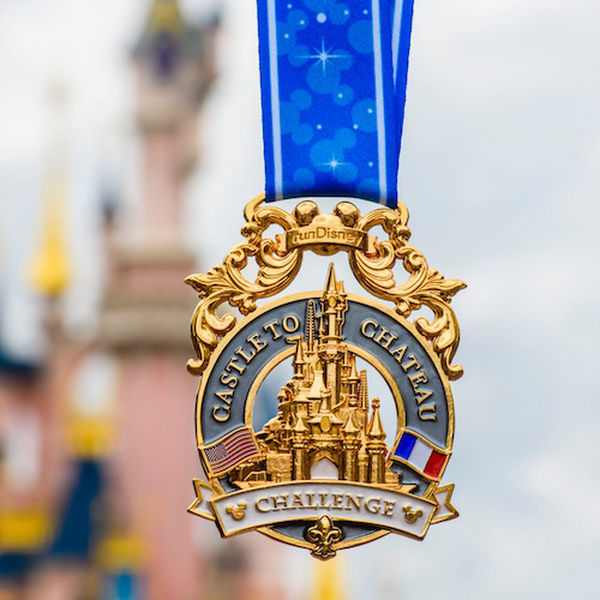 RunDisney Castle to Chateau Challenge medaille