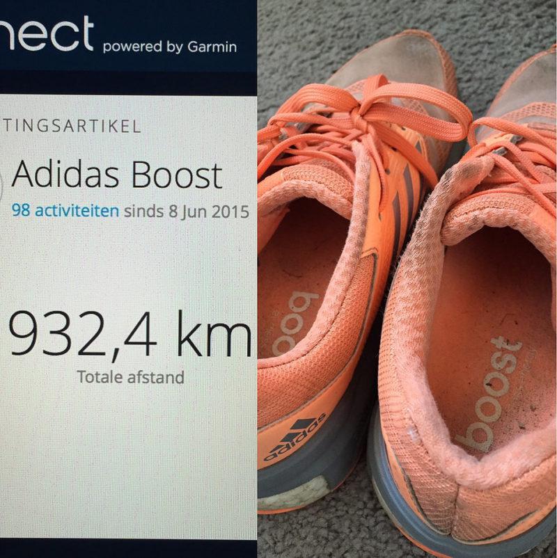 Adidas Boost - meer dan 1000 km hardlopen