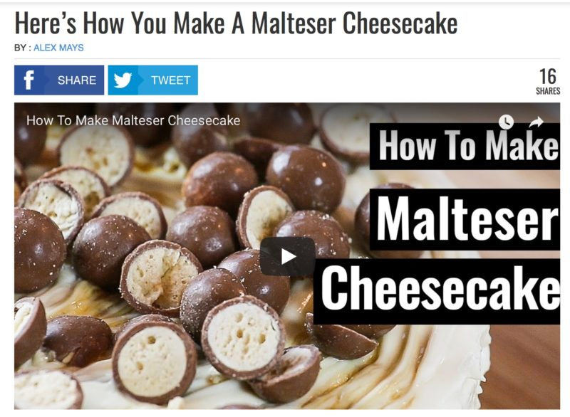Recept voor Malteser Cheesecake