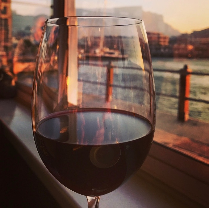 Wijn met uitzicht op de Tafelberg, Kaapstad