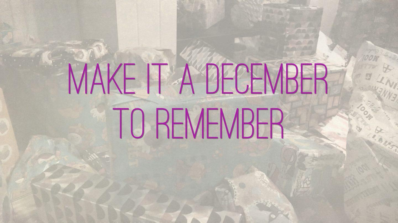 "Weer een week… #30: ""Make it a december to remember"""