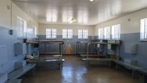 Gevangenis van Nelson Mandela. Excursie naar Robbeneiland, Kaapstad, Zuid-Afrika