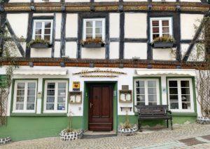 Vakwerkhuis in Arnsberg: Altes Backhaus restaurant in de Altstadt
