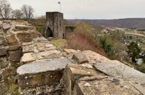Uitzicht vanaf de ruine van het kasteel in Arnsberg in het Duitse Sauerland