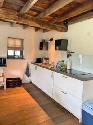 Eigen keuken in appartement 'Koeienstal' van B&B In Bemelen