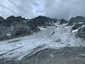 Gletsjer bij Mont Fort in de Zwitserse Alpen