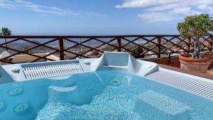 Jacuzzi op het dak van hotel Rural in San Miguel op Tenerife