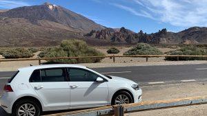 Met de huurauto van Sunny Cars reiden naar de Teide op Tenerife op vakantie met Eliza was Here