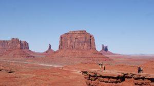 Uitzicht op de 'monuments' in Monument Valley, Utah, Verenigde Staten